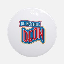 The Incredible Deon Ornament (Round)