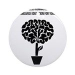 Support Language Education Ornament (Round)