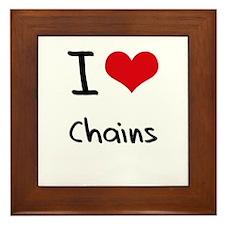 I love Chains Framed Tile