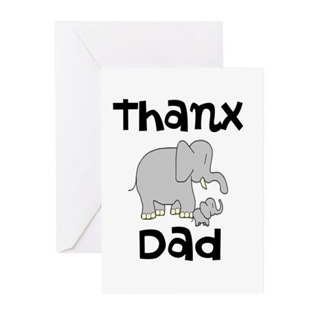 THANX DAD Greeting Cards (Pk of 10)
