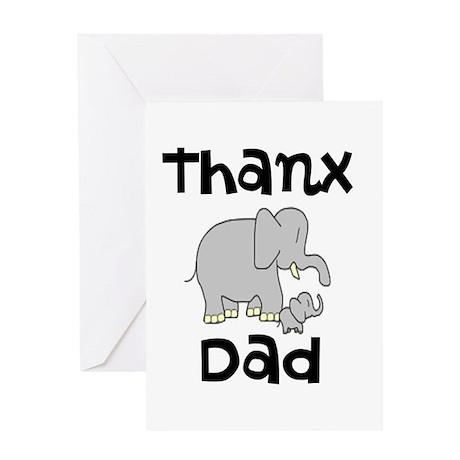 THANX DAD Greeting Card