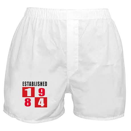 Established 1984 Boxer Shorts