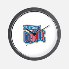 The Incredible Donte Wall Clock