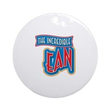 The Incredible Ean Ornament (Round)