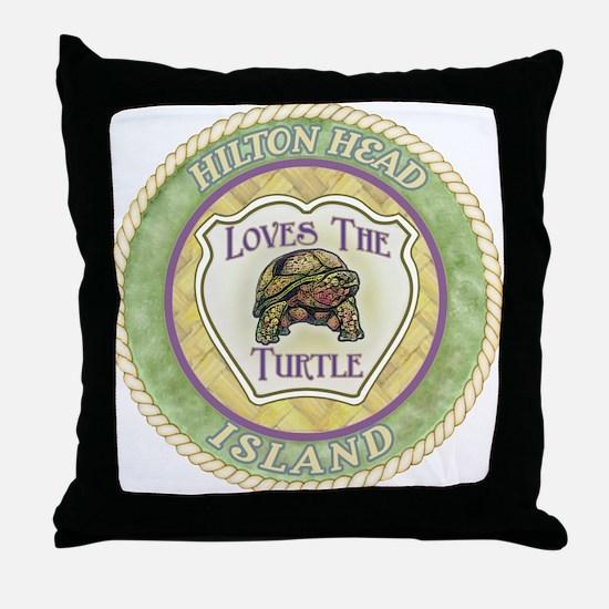 Hilton Head Turtle Throw Pillow
