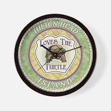 Hilton Head Turtle Wall Clock