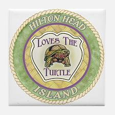 Hilton Head Turtle Tile Coaster