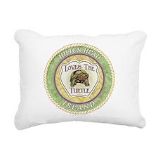 Hilton Head Turtle Rectangular Canvas Pillow
