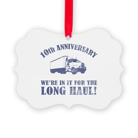 10th Anniversary Humor (Long Haul) Picture Ornamen