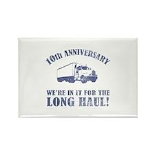 10th Anniversary Humor (Long Haul) Rectangle Magne