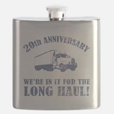 20th Anniversary Humor (Long Haul) Flask