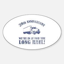 20th Anniversary Humor (Long Haul) Decal