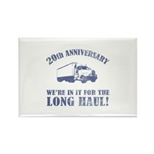 20th Anniversary Humor (Long Haul) Rectangle Magne