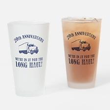 20th Anniversary Humor (Long Haul) Drinking Glass