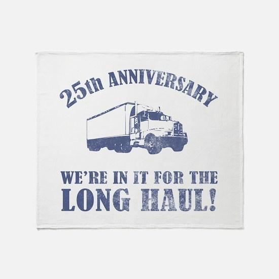 25th Anniversary Humor (Long Haul) Throw Blanket