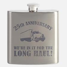 25th Anniversary Humor (Long Haul) Flask