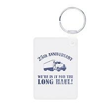25th Anniversary Humor (Long Haul) Keychains