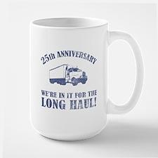 25th Anniversary Humor (Long Haul) Large Mug