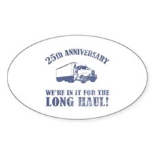 25th Anniversary Humor (Long Haul) Decal