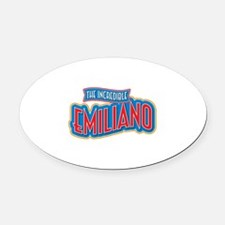 The Incredible Emiliano Oval Car Magnet
