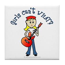 Light Guitar Tile Coaster