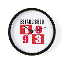 Established 1993 Wall Clock