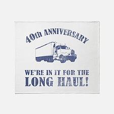 40th Anniversary Humor (Long Haul) Throw Blanket