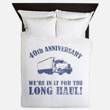 40th Anniversary Humor (Long Haul) Queen Duvet