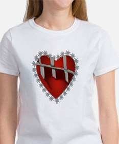 Caged, Barbed Heart Tee