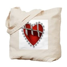 Caged, Barbed Heart Tote Bag