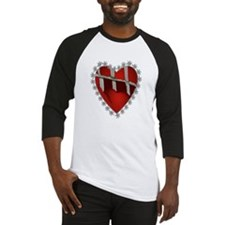 Caged, Barbed Heart Baseball Jersey