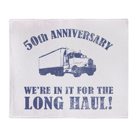 50th Anniversary Humor (Long Haul) Throw Blanket