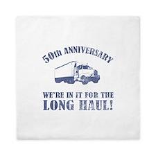 50th Anniversary Humor (Long Haul) Queen Duvet