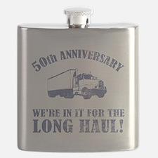50th Anniversary Humor (Long Haul) Flask