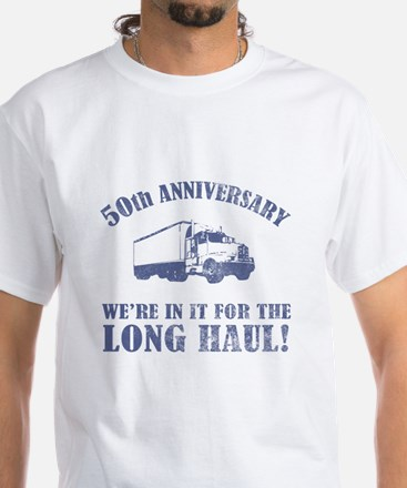50th Anniversary Humor (Long Haul) White T-Shirt