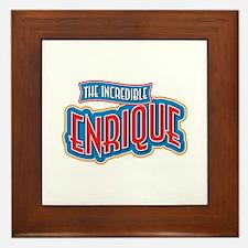 The Incredible Enrique Framed Tile