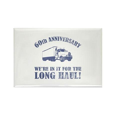 60th Anniversary Humor (Long Haul) Rectangle Magne