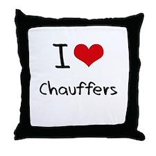 I love Chauffers Throw Pillow