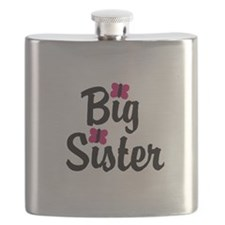 Big Sister Pink Butterflies Flask