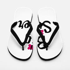 Big Sister Pink Butterflies Flip Flops