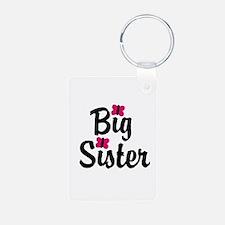 Big Sister Pink Butterflies Keychains