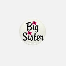 Big Sister Pink Butterflies Mini Button (10 pack)
