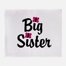 Big Sister Pink Butterflies Throw Blanket