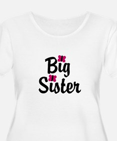 Big Sister Pink Butterflies Plus Size T-Shirt