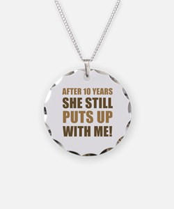 10th Anniversary Humor For Men Necklace