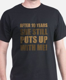 10th Anniversary Humor For Men T-Shirt