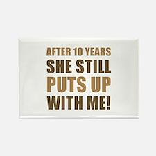 10th Anniversary Humor For Men Rectangle Magnet