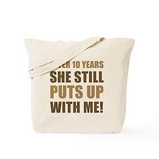 10th Anniversary Humor For Men Tote Bag