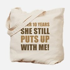 10th Anniversary Humor For Men Tote Bag
