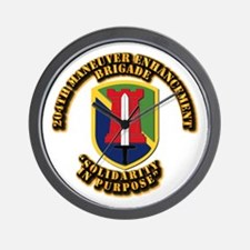 SSI - 204th Maneuver Enhancement Brigade Wall Cloc